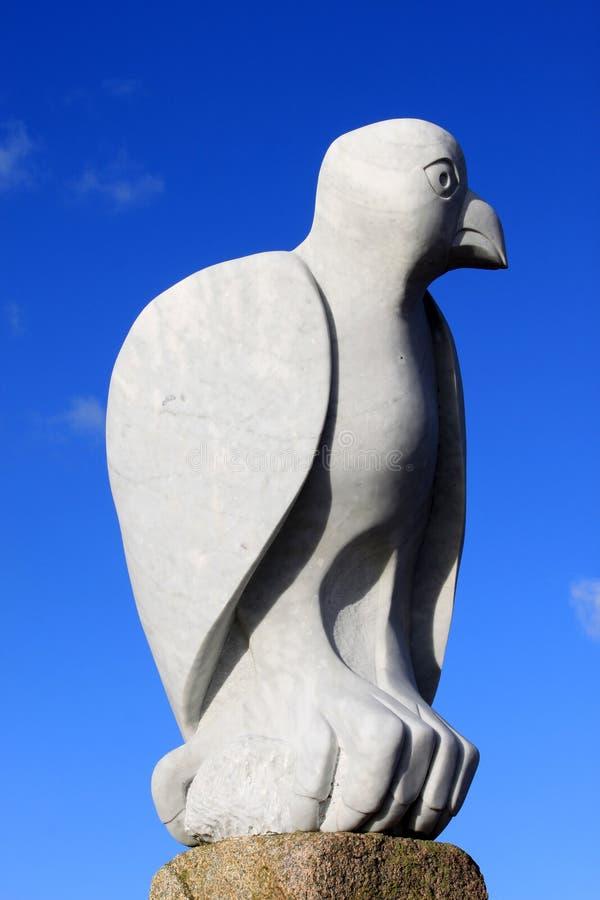 Bird sculpture Stone Jetty, Morecambe, Lancashire royalty free stock photos