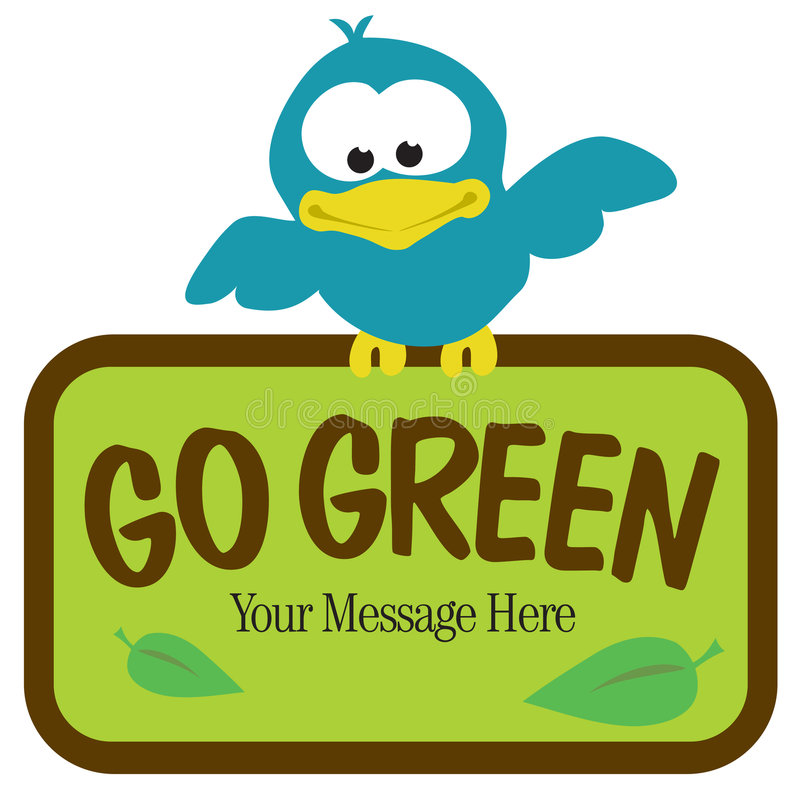 Download Bird with Sign stock vector. Illustration of gogreen, clipart - 8969728