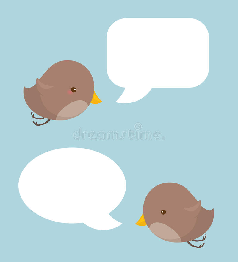 Bird Speak royalty free stock photo