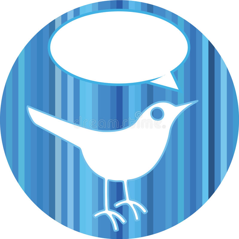 Bird with speech bubble vector illustration