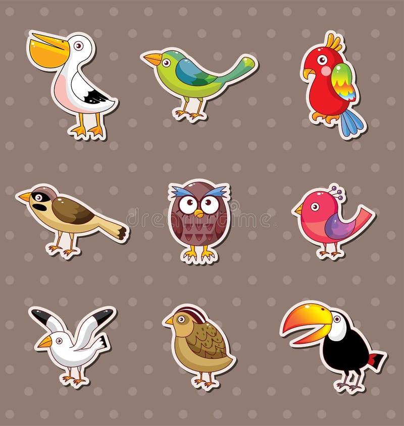Bird stickers stock illustration