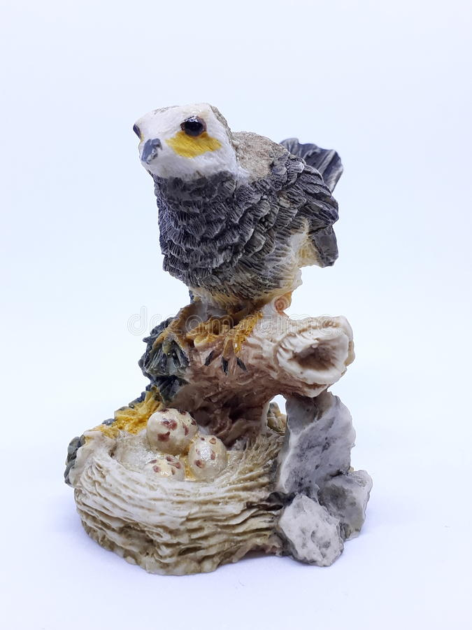 Bird stone. Crave of bird stock photo