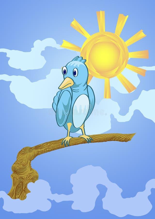 Download Bird of sumer stock vector. Illustration of funny, black - 21479315
