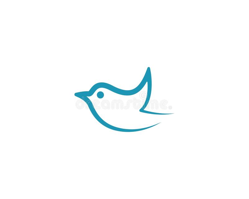 Bird symbol illustration royalty free illustration
