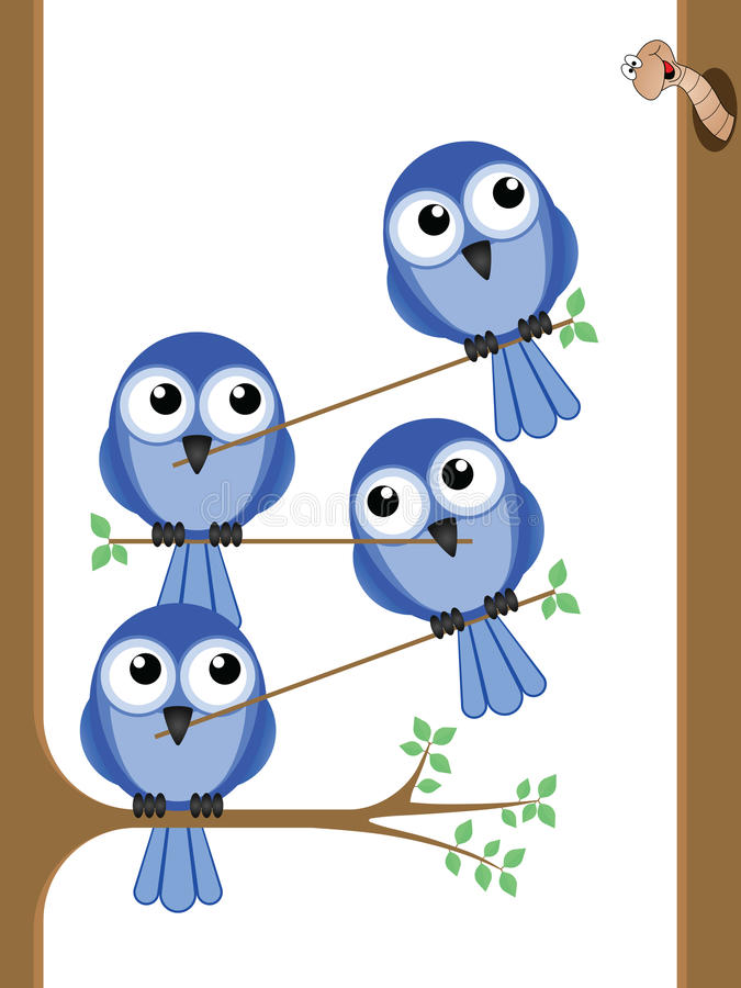 Download Bird teamwork stock vector. Image of tree, trunk, team - 23329364