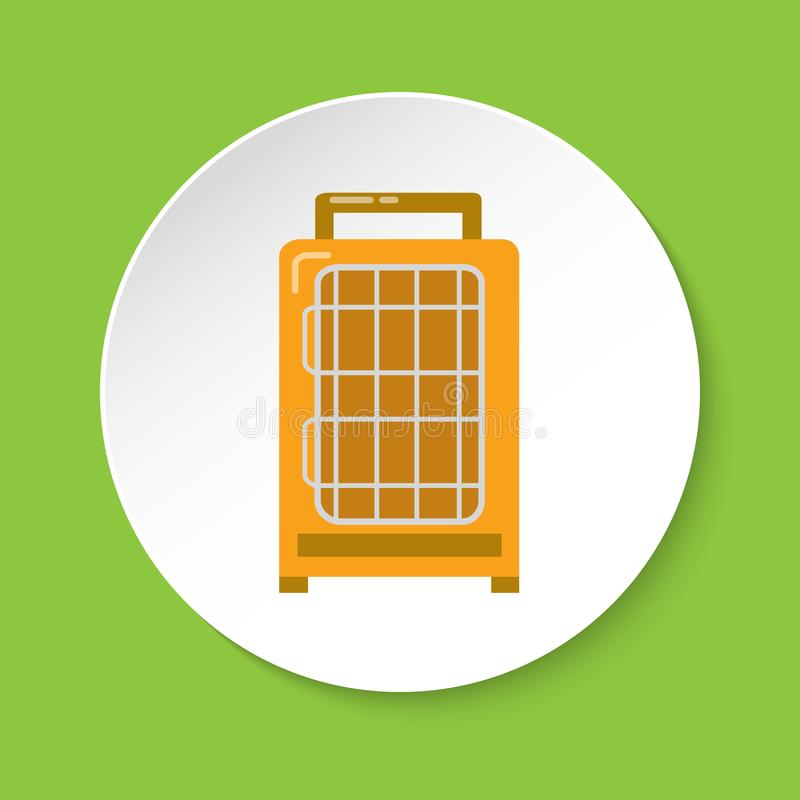 Bird travel cage icon in flat style stock illustration