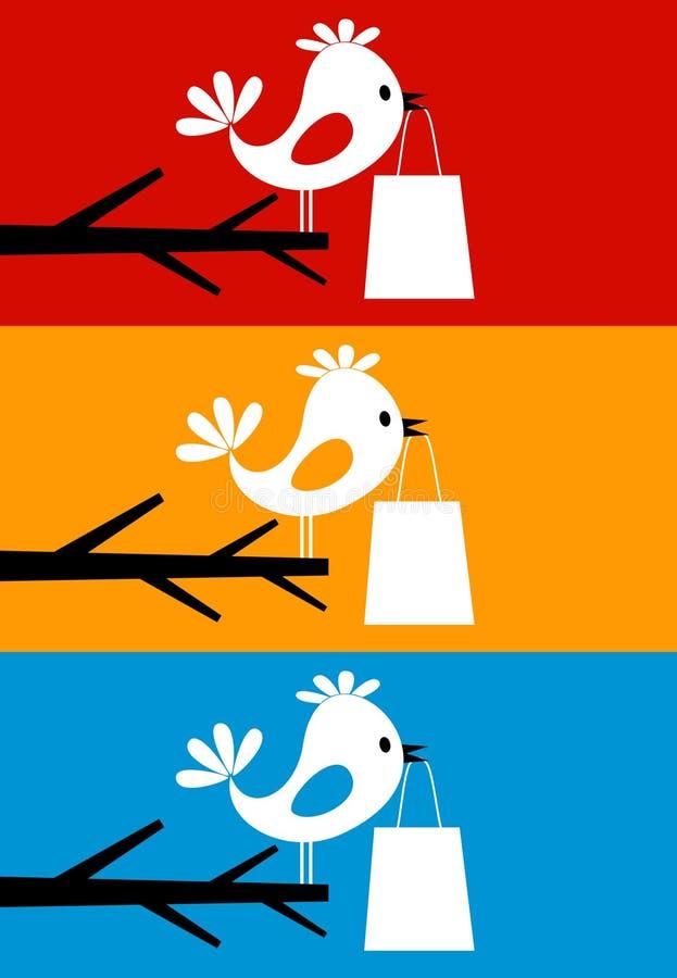 Bird on a tree8 stock illustration