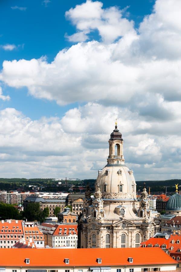 Bird View Of Frauenkirche Stock Photos