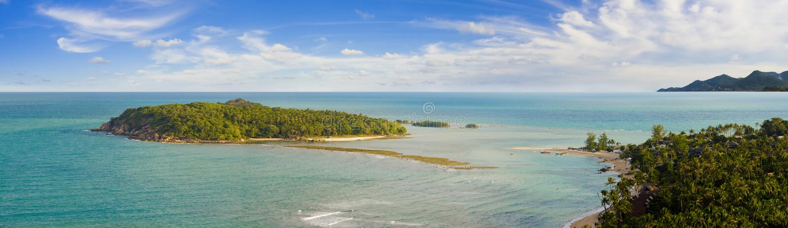 Bird view on koh samui royalty free stock images