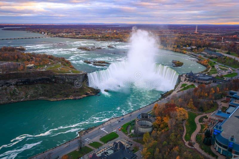 Download Bird View of Niagara Falls stock image. Image of fall - 82312505