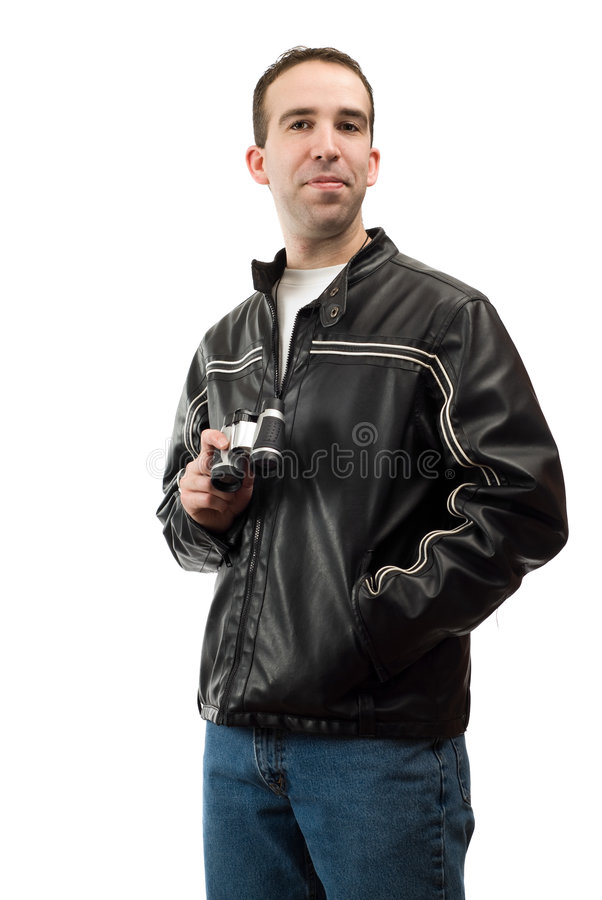 Download Bird Watcher Portrait stock image. Image of binoculars - 8499157