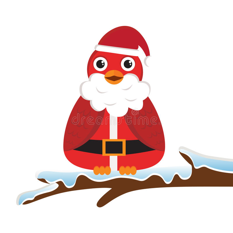 Download Bird wearing Santa costume stock vector. Illustration of bird - 21866813
