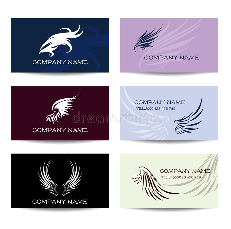 Wings Shapes And Business Cards Stock Illustration - Illustration of ...