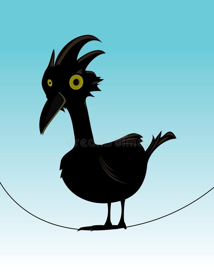 Bird on wire stock illustration