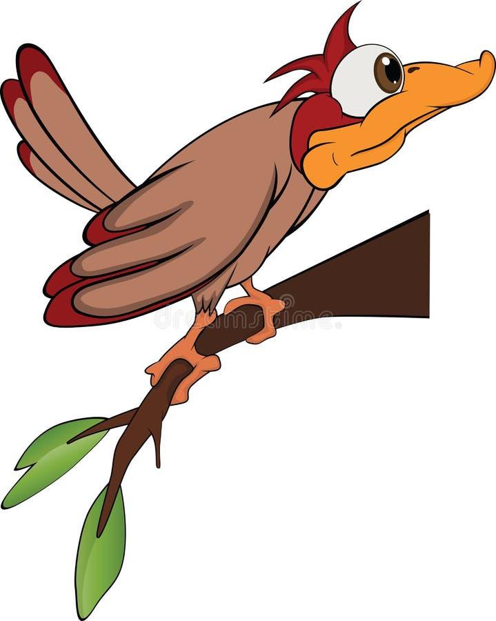 Bird woodpecker. Cartoon vector illustration