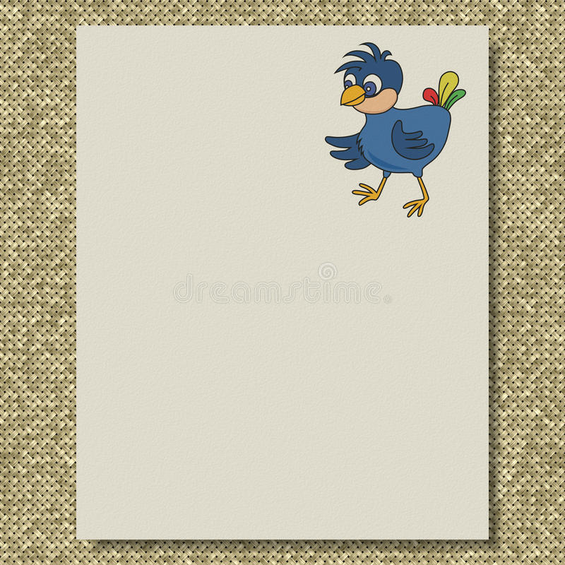 Bird writing paper knit texture background vektor abbildung