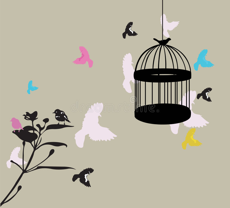 Birdcage ilustração stock