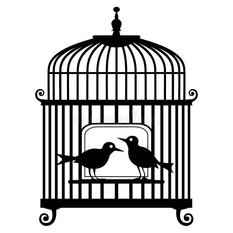 Birdcage de vecteur illustration libre de droits