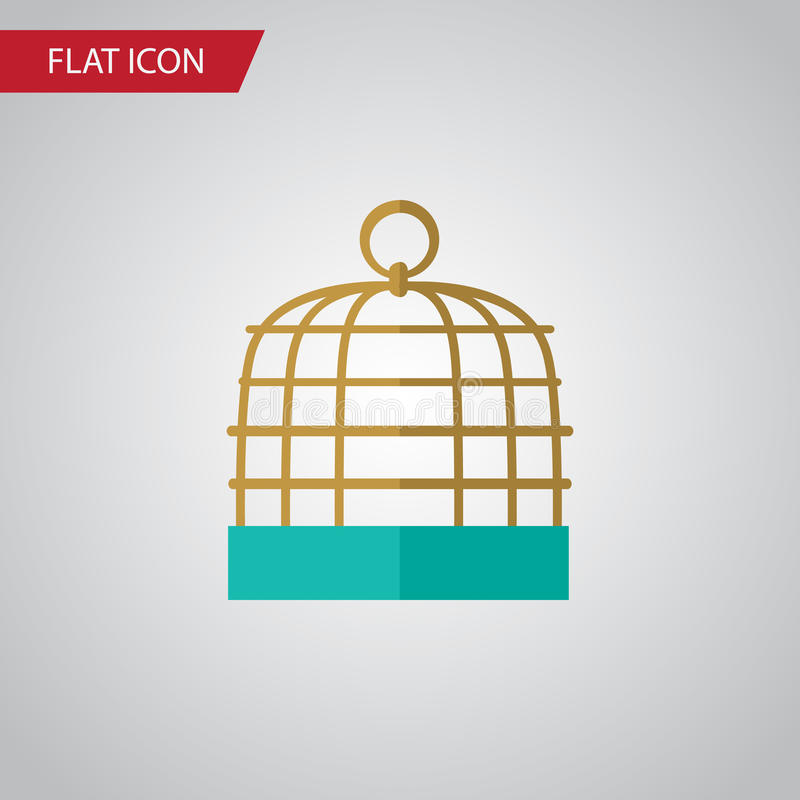 Birdcage Flat Icon. Bird Prison Vector Element Can Be Used For Birdcage, Prison, Cage Design Concept. royalty free illustration