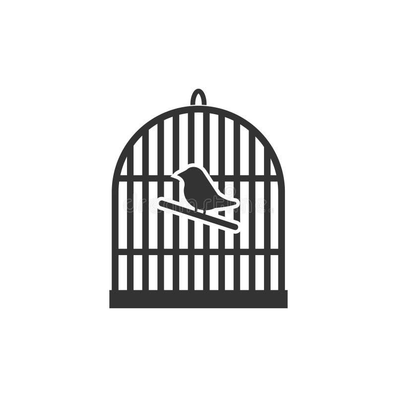 Birdcage icon flat vector illustration