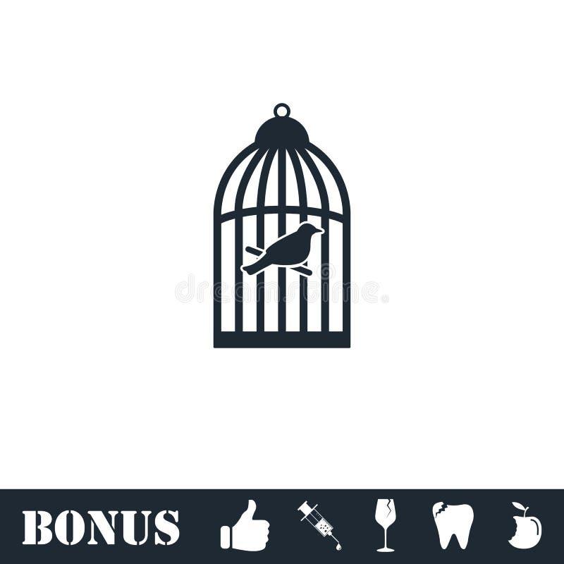 Birdcage icon flat royalty free illustration