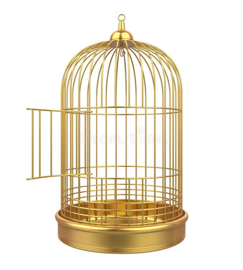 Birdcage isolado ilustração royalty free