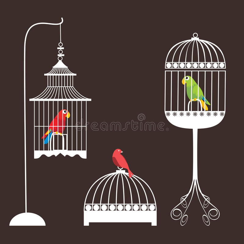 Birdcage-Set vektor abbildung