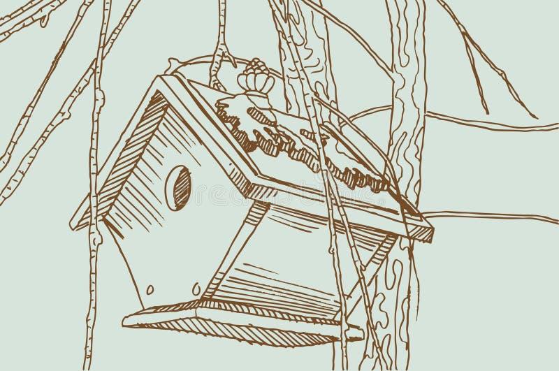 Birdcage-Skizze - draußen lizenzfreie abbildung