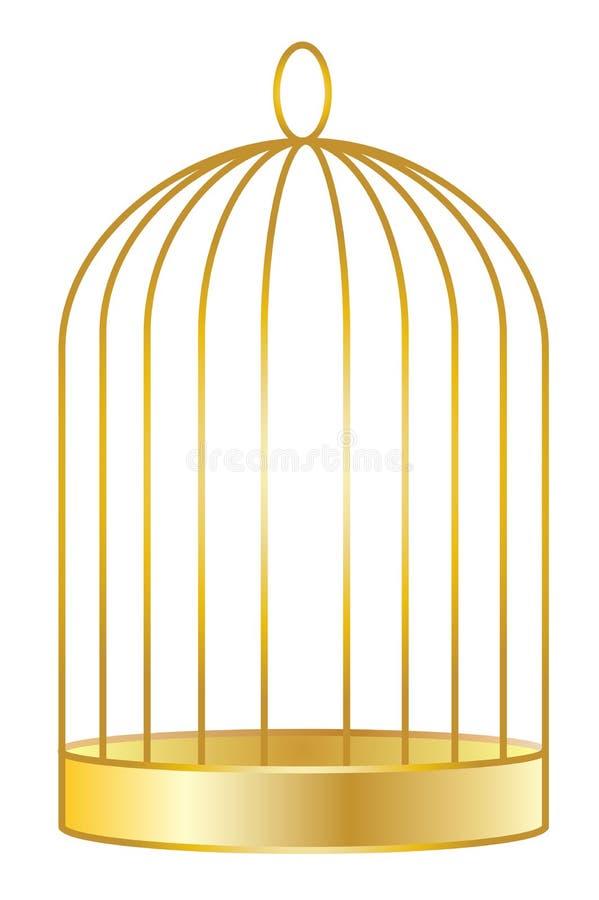 birdcage złoty ilustracji