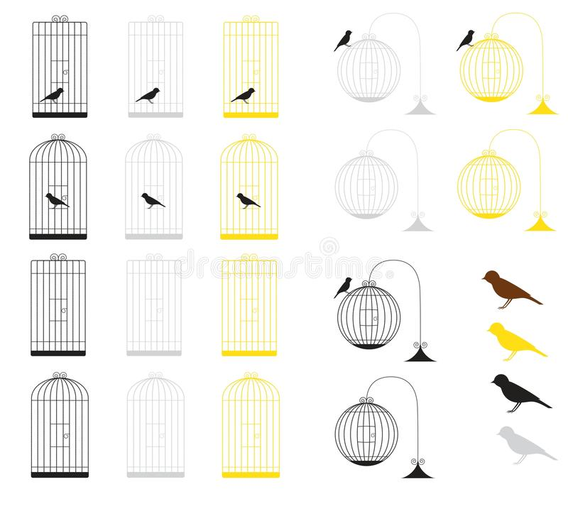 Download Birdcages stock image. Image of abstract, retro, animal - 29229833