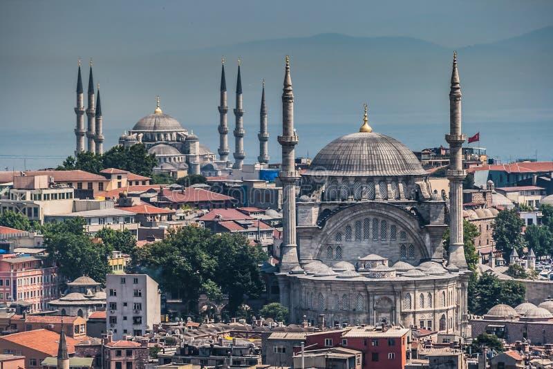 Birdeye widok meczety w Eminonu, Istanbuł zdjęcie royalty free