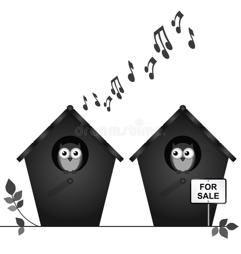 Birdhouse για την πώληση ελεύθερη απεικόνιση δικαιώματος