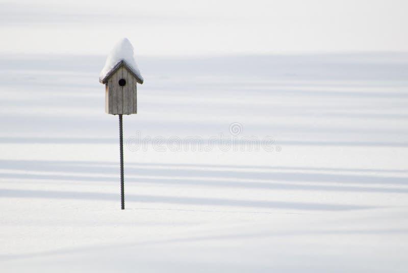 birdhouse χιόνι στοκ φωτογραφία