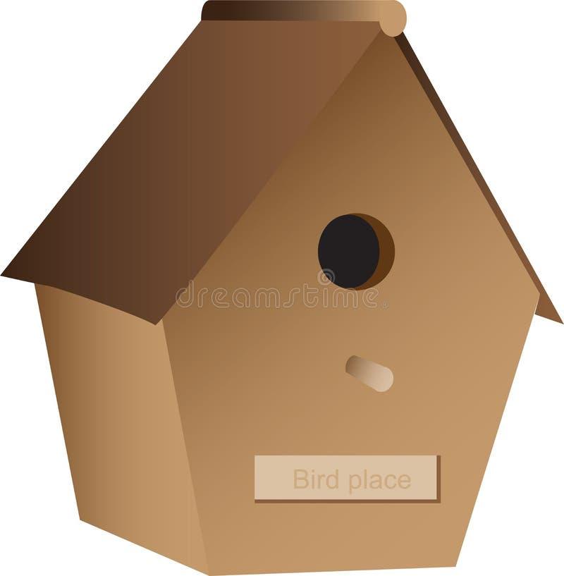 Download Birdhouse деревянный иллюстрация вектора. иллюстрации насчитывающей bipedal - 17622296