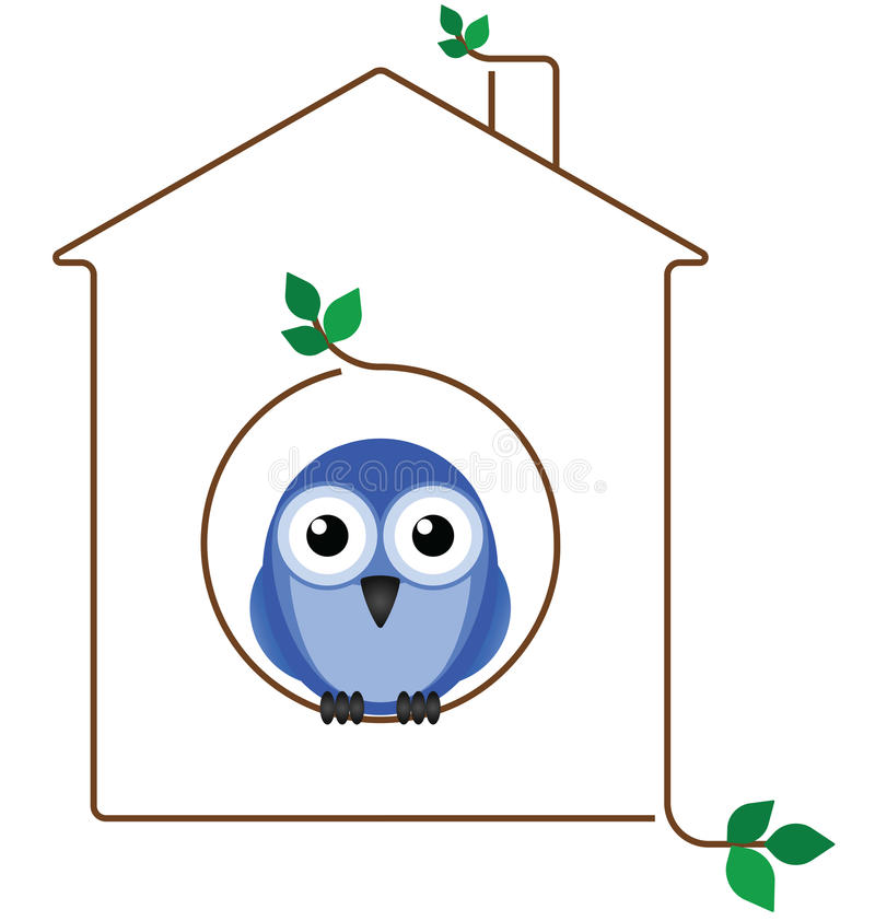 Download Birdhouse stock vector. Illustration of twig, abode, creature - 21615569