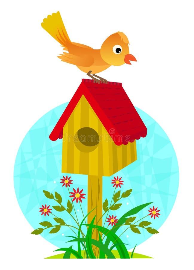 birdhouse and bird stock vector illustration of springtime 59460694 rh dreamstime com birdhouse clipart free birdhouse clipart free