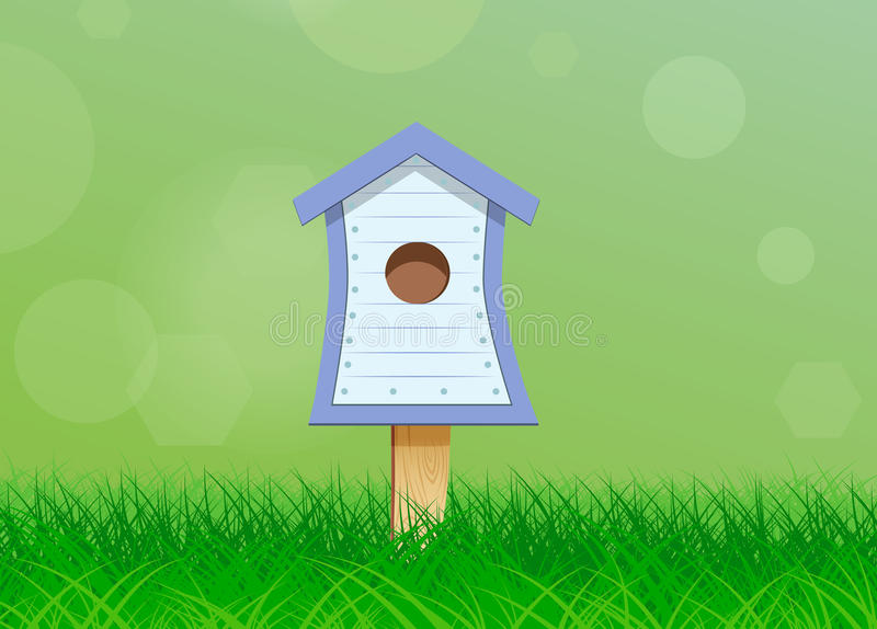 Birdhouse for birds stock illustration