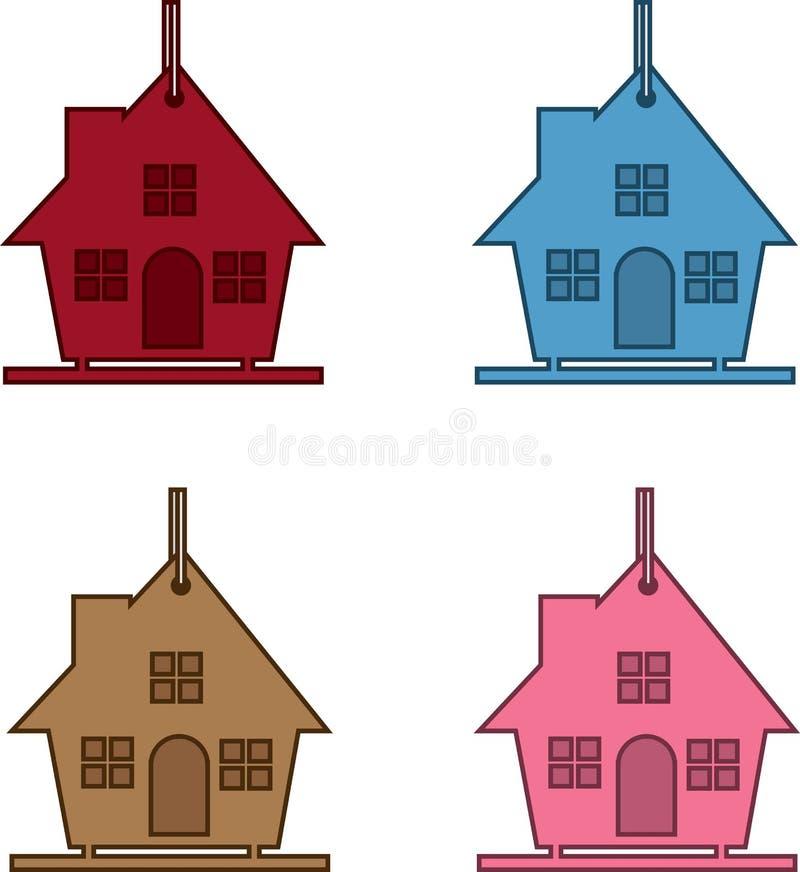 Birdhouse Colors Stock Images