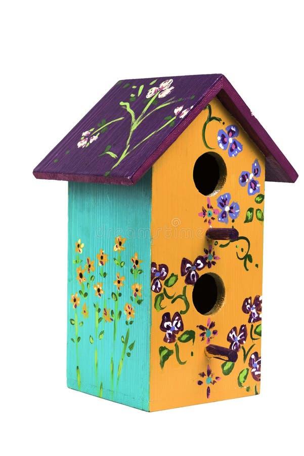 Birdhouse di legno dipinto a mano 1 immagini stock libere da diritti