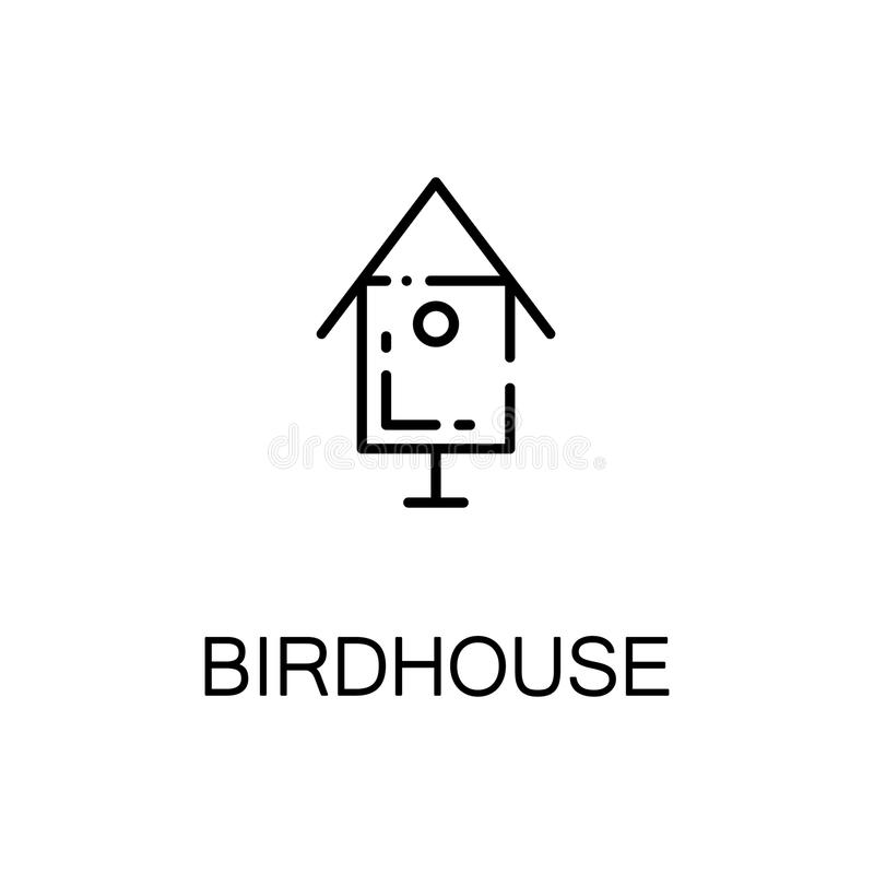 Birdhouse flat icon royalty free illustration