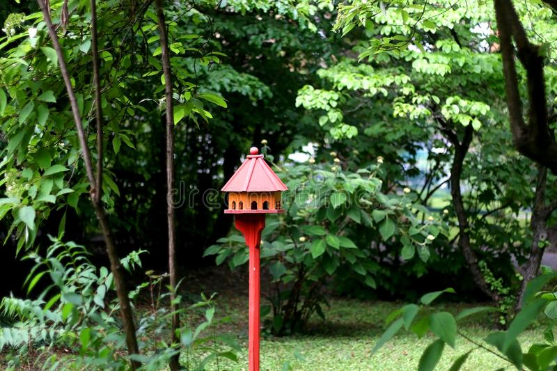 Birdhouse in the Garden royalty free stock images