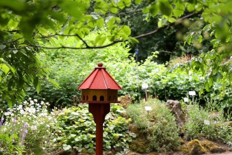 Birdhouse in the Garden royalty free stock photo
