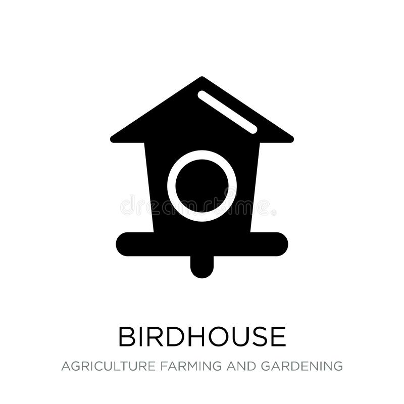 birdhouse icon in trendy design style. birdhouse icon isolated on white background. birdhouse vector icon simple and modern flat stock illustration