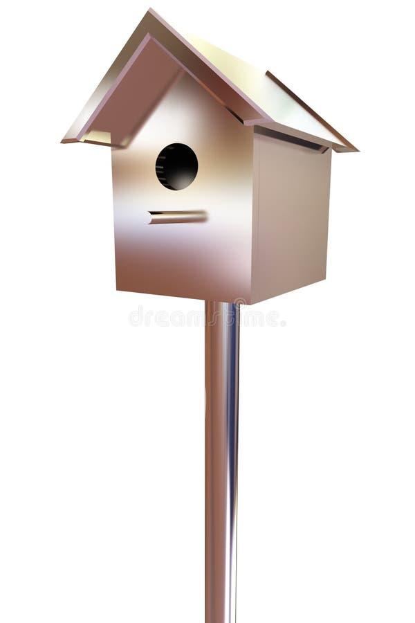 Birdhouse - metal pamiątka ilustracja wektor