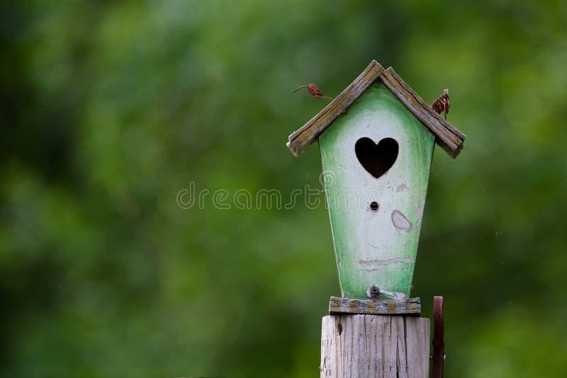Birdhouse rústico fotos de stock