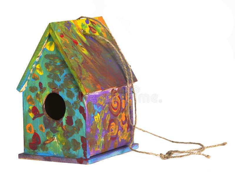 Birdhouse verniciato fotografia stock libera da diritti