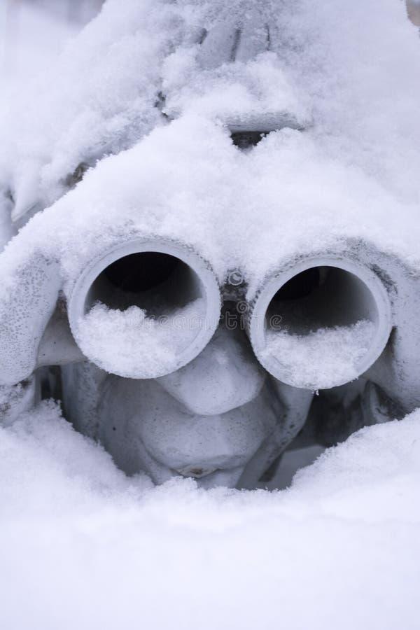 birdhousen räknade snow royaltyfri bild