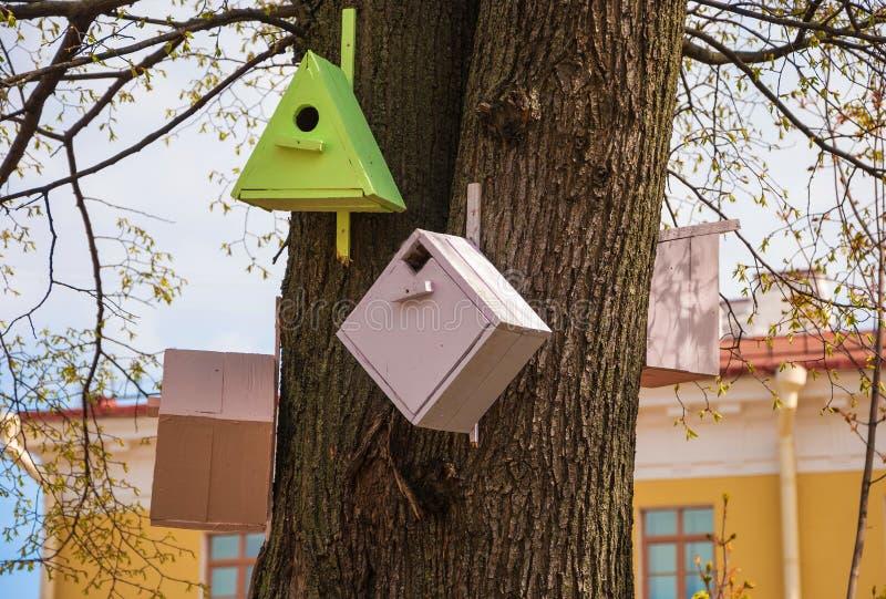 Birdhouses для птиц стоковые фото