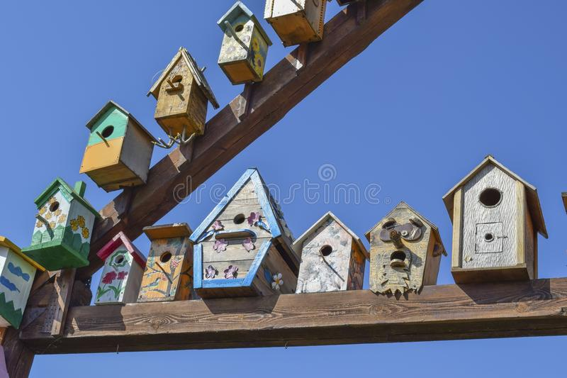 Birdhouses, дома для птиц стоковое изображение rf