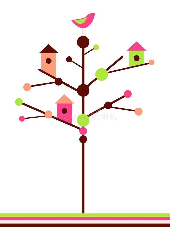 birdhouses stock illustrationer